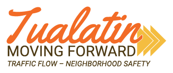 'Tualatin Moving Forward' Logo & Tagline